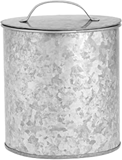 Amici Home 5AN861R Newport Storage Canister Metal Can 102 Fluid Ounces Galvanized