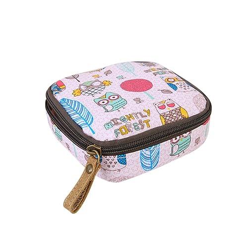 db263d42ff Gluckliy Mini Cosmetic Bag Makeup Pouch Sanitary Napkin Holder Storage  Zipper Coin Purse Handbag (Pink