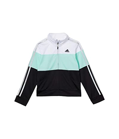 adidas Kids Color-Block Tricot Jacket (Big Kids) (Mint) Girl