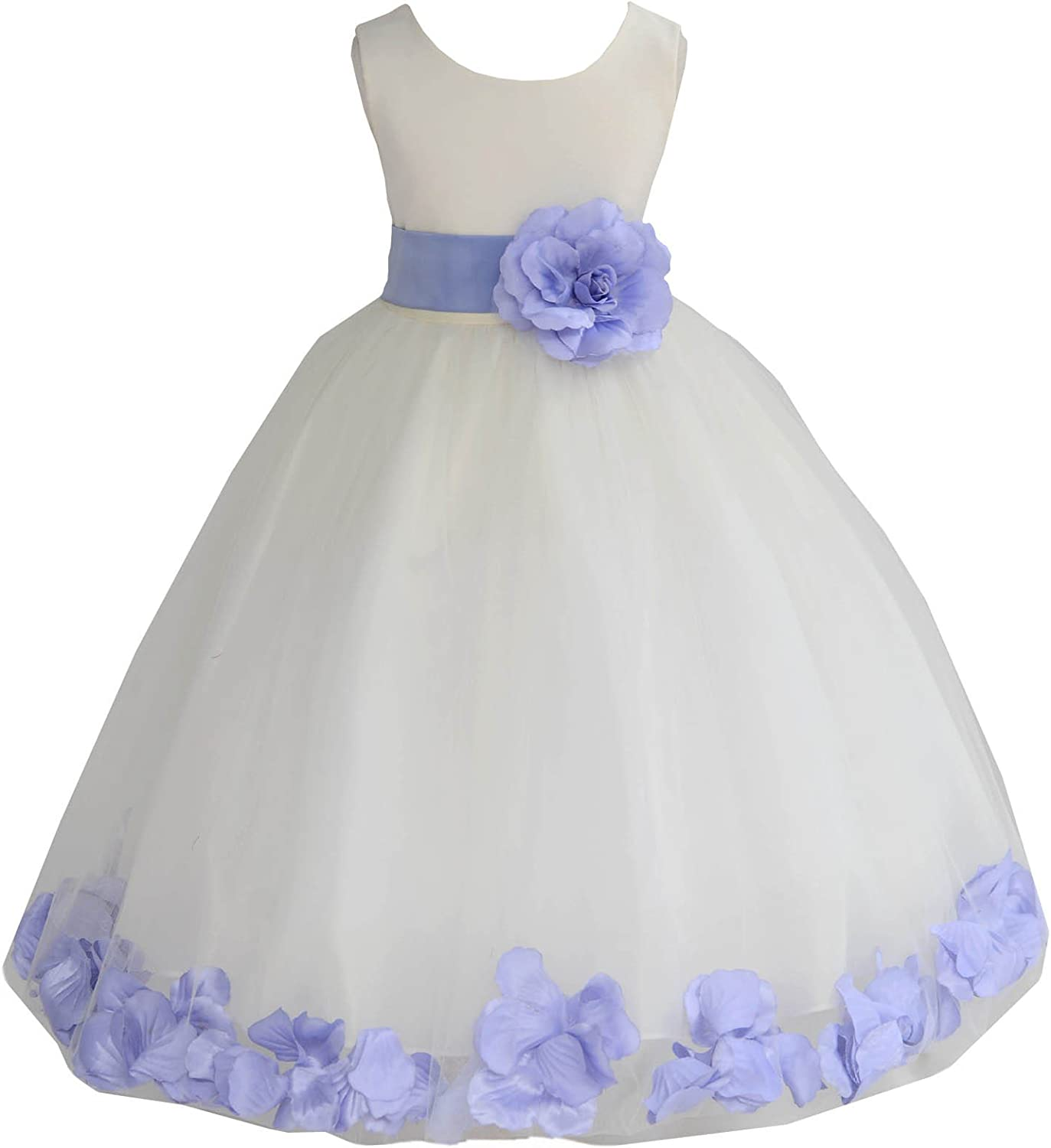 Ivory Flower Girl Dress Coral Turquoise Apple Red Clover Green Eggplant 814S