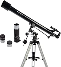 Celestron - PowerSeeker 60EQ Telescope - Manual German Equatorial Telescope for Beginners - Compact and Portable - BONUS A...