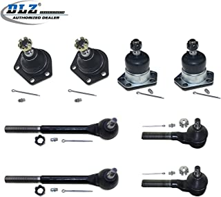 DLZ 8 Suspension Kit-Lower Upper Ball Joint Inner Outer Tie Rod End Compatible with Chevrolet S10 4WD 1984-1996