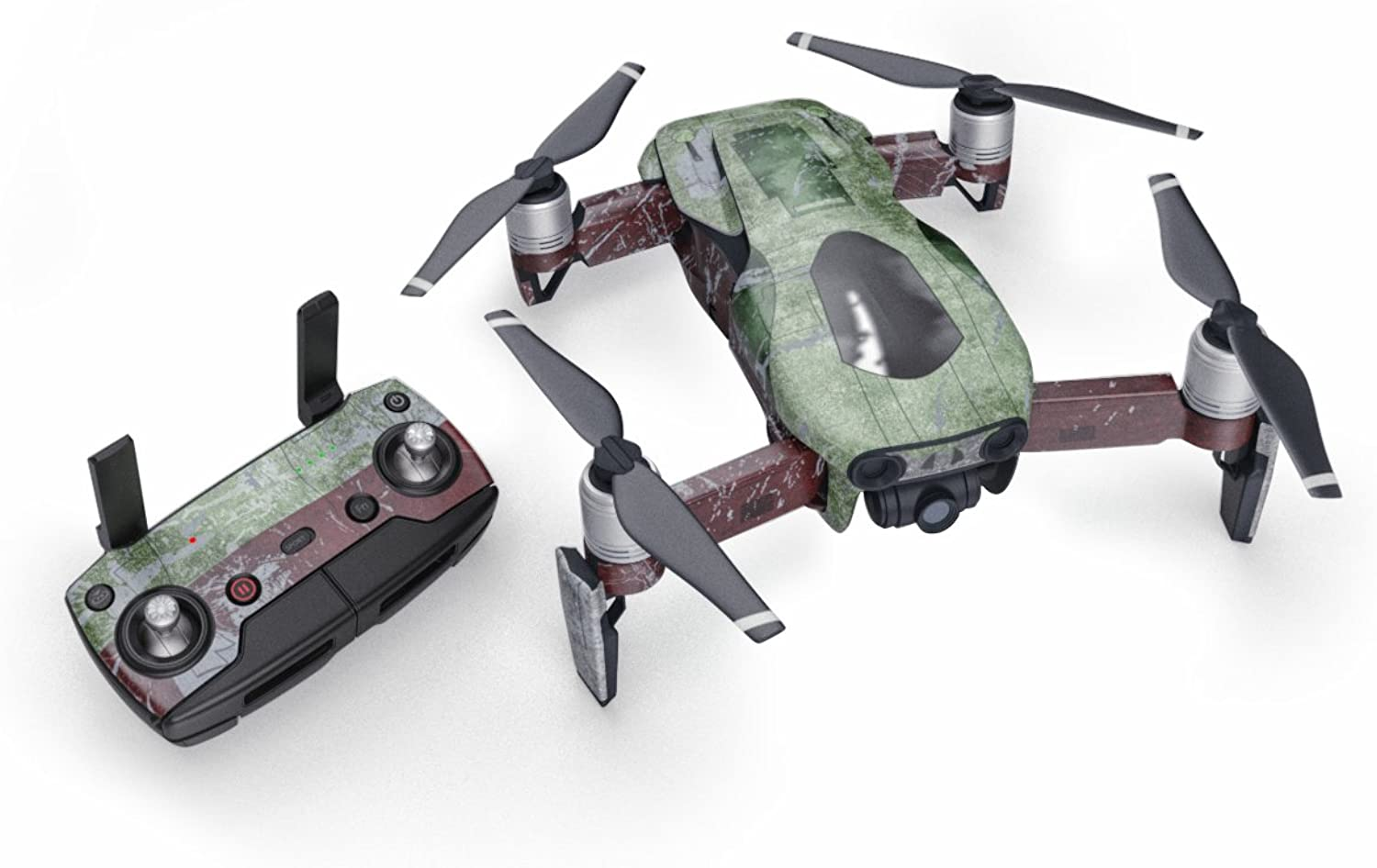 Slave I 51 Piece Decal Kit for DJI Mavic Air Drone  Includes Drone Skin, Controller Skin and 3 Battery Skin