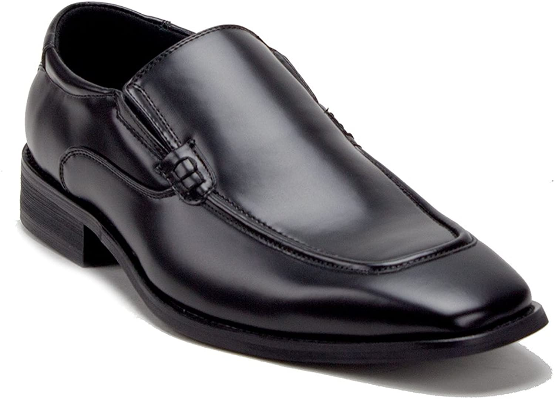 J'aime Aldo Men's Black Classic Almond Toe Slip On Dress Loafers shoes