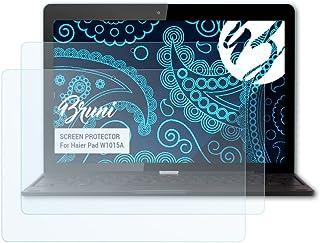 Bruni Película Protectora para Haier Pad W1015A Protector Película, Claro Lámina Protectora (2X)
