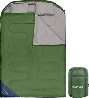 OUSTULE Double Sleeping Bag for Adults Cold Weather 2...
