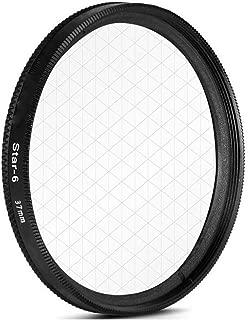 AKOAK 37mm 6-Point Star Filter for Cellphone or Camera Lens