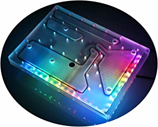 Bykski Distro Plate Distribution Plate Waterway Block Water Channel Block Pump High Performance RGB LED Light Build for PC Computer Water Cooling Computer Case Liquid Cooler (for ANTEC Striker)