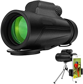 Newdoar monocular telescopio 12X50 Impermeable BAK4 Prisma FMC monocular con tr/ípode Constante para observaci/ón de Aves de Caza Camping Senderismo