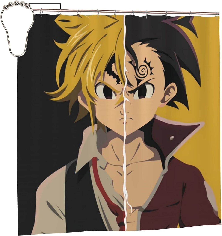 quality assurance Superlatite The Seven Deadly Sins Anime Lin Shower Bathroom Curtain Meliodas