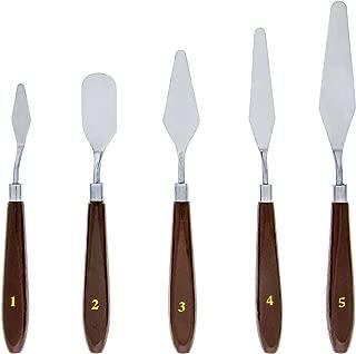US Art Supply 5 Piece Palette Knife Set