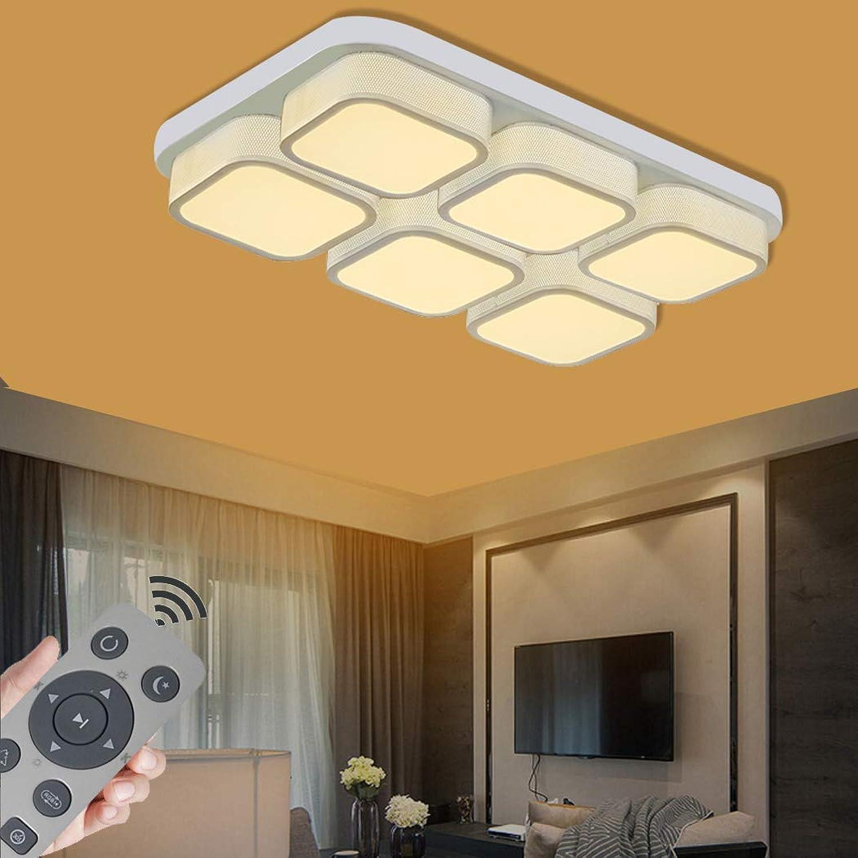 BMQXX 72W Dimmbar LED Square Deckenleuchte Modern Deckenlampe Schlafzimmer Küche Flur Wohnzimmer Lampe (Dimmbar 3000-6500K) (Square Wei-72W)