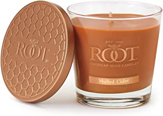 Root Candles Honeycomb Veriglass Scented Beeswax Blend Candle, Small, Mulled Cider