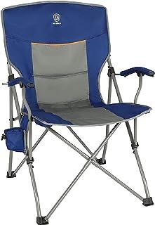EVER ADVANCED Klapstoel Campingstoel Gevoerde Rugleuning Armsteun Gemakkelijk Opvouwbaar Staalframe Visstoel Belastbaar 13...