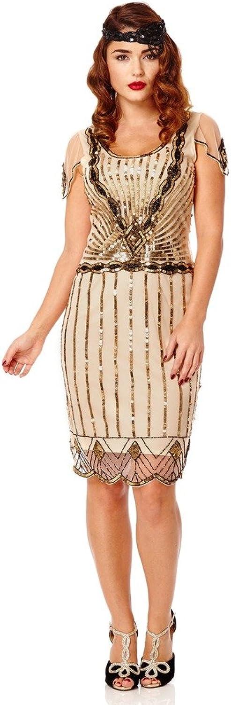 Eva Vintage Inspired Flapper Dress in bluesh