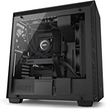 NZXT H700 - ATX Mid-Tower PC Gaming Case - Tempered Glass Panel - Enhanced Cable Management System – Water-Cooling Ready - Black - 2018 Model
