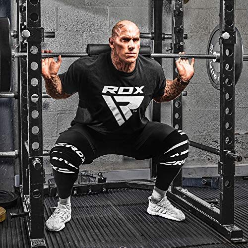RDX Knee Wraps for Weight Lifting| Approved by IPL and USPA |Elasticated Compression Powerlifting Support Bandage| Great for Squats, Bodybuilding, Gym Fitness Training and Olympic Lifting