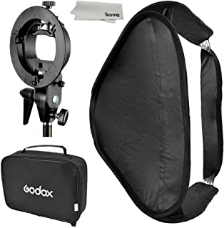 GODOX Softbox with S Type Bracket Bowens S Mount Holder Foldable Mini Size 8080cm Soft Box Kit for Flash Camera Studio Photography