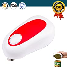 Electric Can Opener, Euhomy 4AA Batteries Tin Operated Smooth Soft Edge Hands Free One Touch Start Automatic Jar Opener for Arthritis Individuals, Seniors, Restaurant Chefs Safest, fastest, Easiest