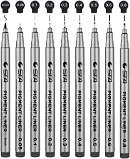 DazSpirit Fineliner Pen 9 Pack Black - 9