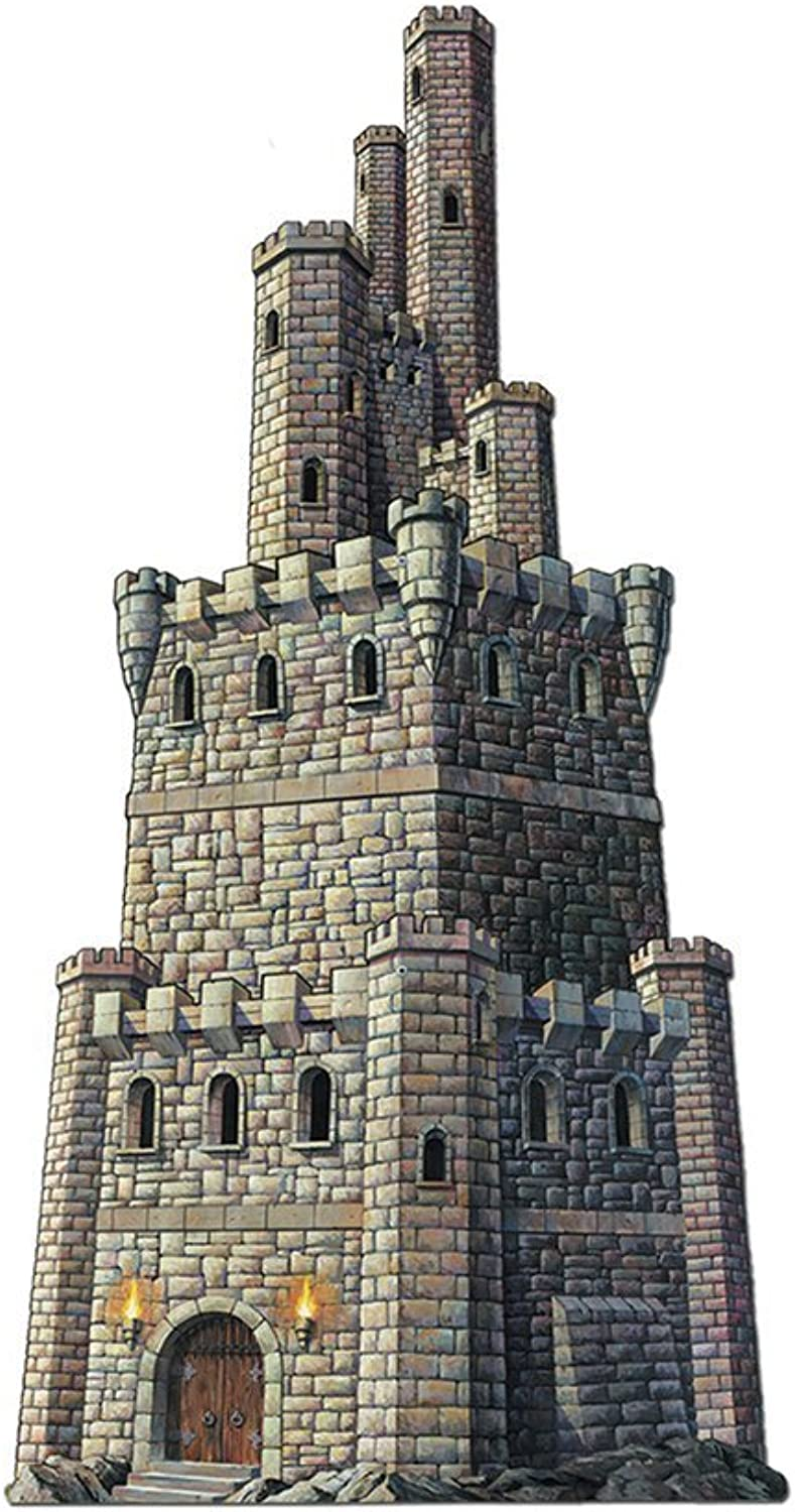 Beistle Party Decoration Jointed Castle Tower 4'  Pack of 12