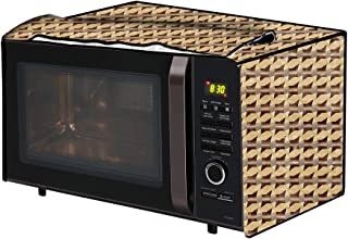 The Furnishing Tree Microwave Oven Cover for IFB 25 L Convection 25SC4 Symmetric Pattern Beige