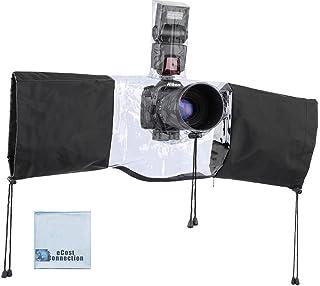 غطاء مطر احترافي لكاميرات دي اس ال ار متوسطة وكبيرة الحجم مع مساحة فلاش + قطعة قماش من الألياف الدقيقة من إي كوستكشن