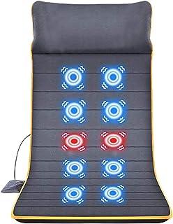 SSCYHT Almohadilla Masaje Todo Cuerpo Alfombrilla Calefacción 30 Minutos Sincronización Automática para Aliviar Dolor Relajación Muscular Adecuado para los Trabajadores Oficina Mayores,Gris