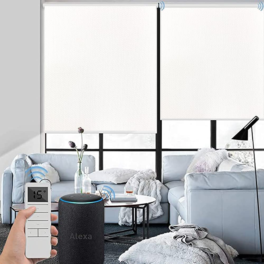 Rare Custom Made Motorized Roller Shade Shades 100% Blackout Blinds C Outlet sale feature
