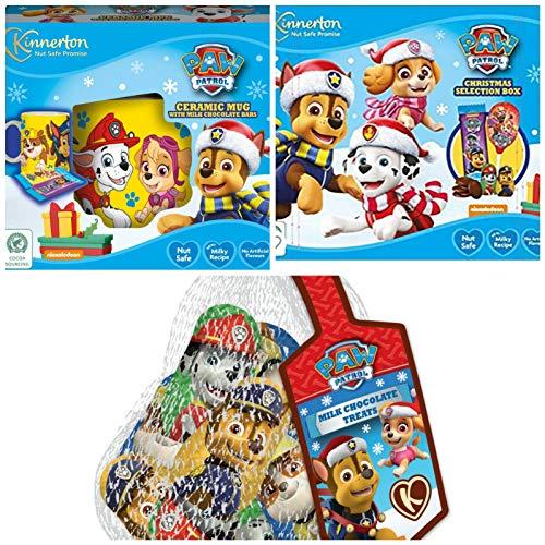 Canina Patrol - Juego de 3 tazas y barras de chocolate, caja de selección y chocolates de personajes en redes