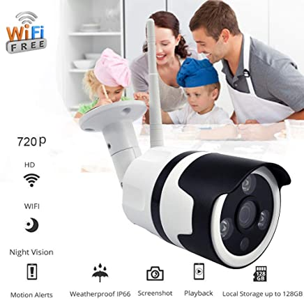"$25 » Beyonds 720P WiFi IP Security Camera Wireless Outdoor/Indoor 60"" HD Camera with Motion Detection Night Vision 2-Way Audio Home Pan/Tilt/Zoom Surveillance Monitor for Baby/Elder/Pet"