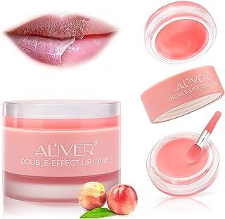 DOUBLE-EFFECT Lip Sleep Mask with Collagen Peptide,Lip Mask+Lip Scrub Intensive Lip Repair Treatment, Sleeping Lip Balm,Li...