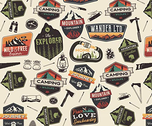 Explorer Outdoor Adventure Enthusiast Wrapping Paper - 30 x 20 Inch (3 Sheets)