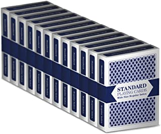 Brybelly 12 Blue Decks Standard Playing Cards by Brybelly (Wide-Size, Regular Index)
