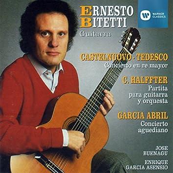 Obras de Castelnuovo-Tedesco, Halffter, García Abril