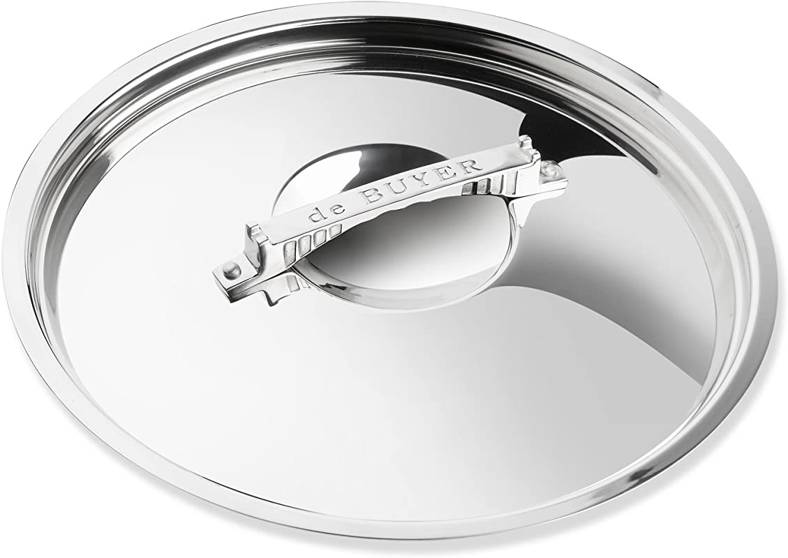 De Buyer Professional 20 Cm Stainless Steel Mont Bleu French Collection Cookware Lid 3754 20