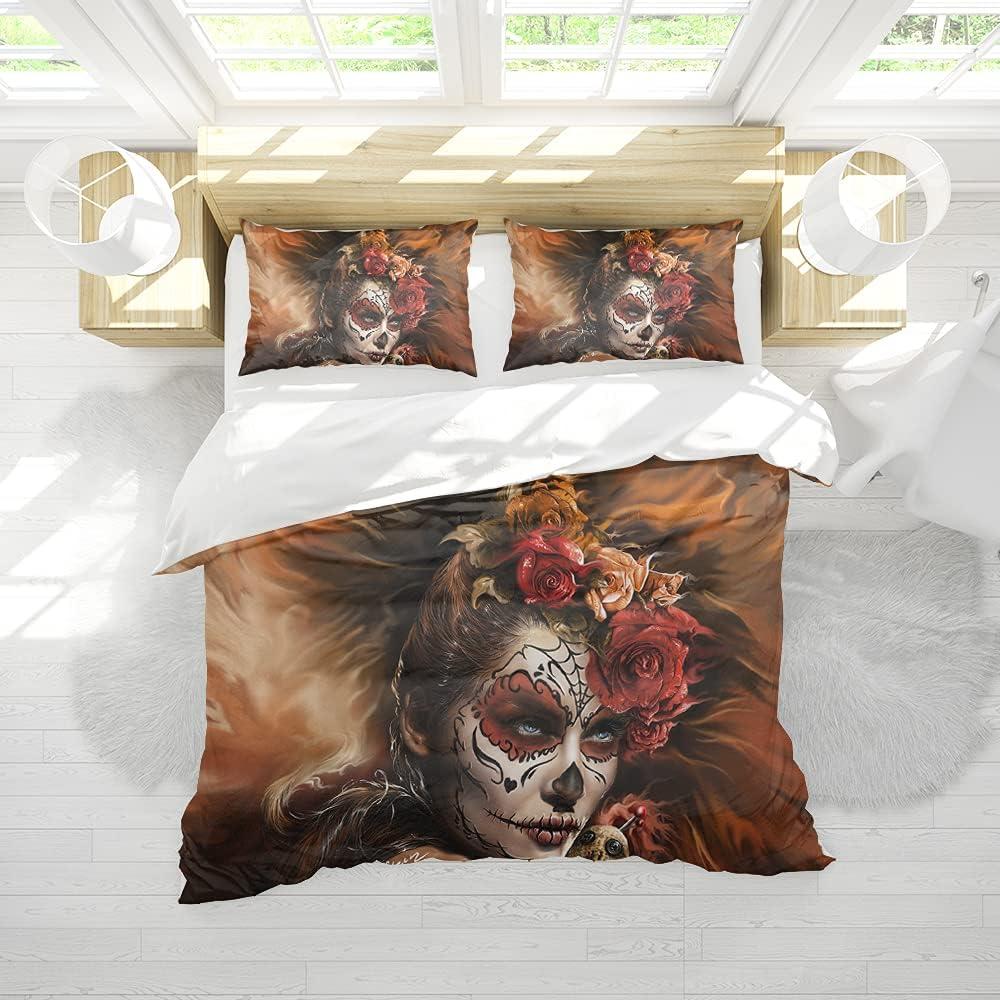 Comforter Cover Sugar Skull Art Bedding Set for Max 89% OFF Girls Kids Boys Max 40% OFF