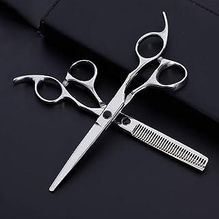 Professional Barber 6 Inch Hairdresser Professional Hairdressing Set Set Scissors (Color : Silver)