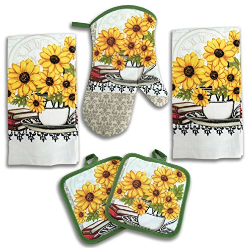 Top 10 Best Selling List for sunflower decor for kitchen towels