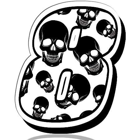 Biomar Labs Startnummer Nummern Auto Moto Vinyl Aufkleber Sticker Skull Schädel Totenkopf Motorrad Motocross Motorsport Racing Nummer Tuning 8 N 338 Auto
