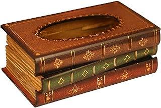 tosnail elegante de madera diseño de libro antiguo caja de