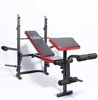 Bancs de Musculation Pliable R/éGlable Inclinable Banc de Poids Multifonction Abdominaux Pectoraux et Biceps LJBOZ Banc d/'Exercice Portable