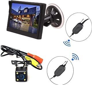 E-KYLIN Wireless Car Auto 5 inch HD Monitor LCD TFT + Backup Camera Reverse Parking Kit LED Night Vision CCTV Safety Surveillance