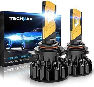 TECHMAX 9012 LED Headlight Bulb,HIR2 12000Lm 6500K Xenon White Conversion Kit of 2