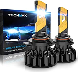 TECHMAX 9012 LED Headlight Bulb,360 Degree Adjustable Beam Angle Cree Chips 12000Lm 6500K Xenon White Extremely Bright HIR2 Conversion Kit of 2