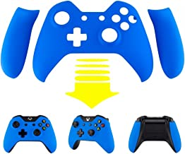eXtremeRate Blue Soft Touch Front Shell Face Plate with Left Right Panel Handle Side Rails for Xbox One Standard and W/3.5mm Headset Jack Controller