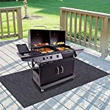 "Gas Grill Mat,BBQ Grilling Gear for Gas/Absorbent Grill Pad Lightweight Washable Floor Mat to Protect Decks and Patios from Grease Splatter,Against Damage and Oil Stains or Grease Spills (36""×72"")"