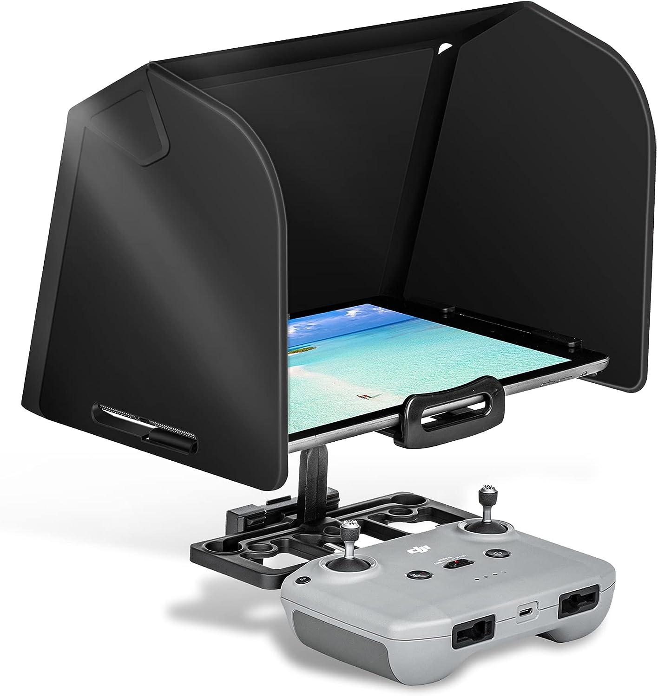 Sun Hood Sun Shade for DJI Mini 2/ DJI AIR 2/DJI AIR 2S Controller Accessories, Suitable for 10.2-11 Inch iPad/iPad Air/iPad Pro and Other Tablets (Black)