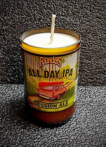 ManCrafted Founders All Day IPA Beer Bottle Soy Candle You Choose Color & Fragrance!