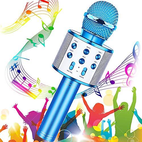 Micrófono Karaoke Bluetooth, Buty Microfono Inalámbrico Karaoke Portátil Niños Altavoces Microfono para Niños Cantar, Función de Eco, Compatible con Android/iOS o Teléfono Inteligente (Green)